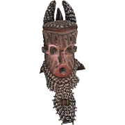 REDUCED African Kuba Helmet Mask