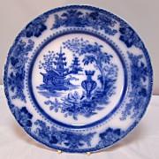 SALE Antique English Flo- Blue Plate