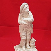 SALE Ceramic figure L'Hiver [ Winter ] Italy 11 inches tall