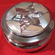 SALE English Sterling/Abalone Ring Box