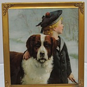REDUCED Chromolithograph Chums Victorian English