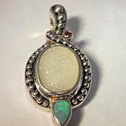 Precious Stone Pendant Sterling Silver