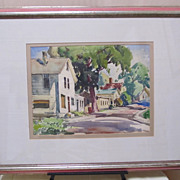 SALE Gianni Cilfone -Wauconda Illinois Street Scene-Water Color