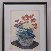 SALE Woodblock Print by Ohno Japanese