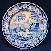 REDUCED Antique Blue Willow English Dinner Plate