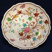 SALE Antique English Floral Hand Decorated Porcelain Plate