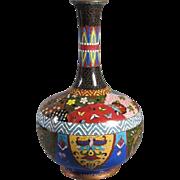 SALE Antique Japanese Cloisonne Vase