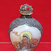 Chinese Metal and Enamel Snuff Bottle