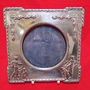 SALE English Art Nouveau Sterling Photo Frame