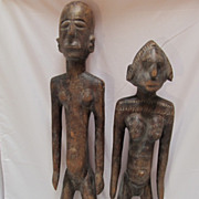 SALE African Couple  Wood Ivory Coast
