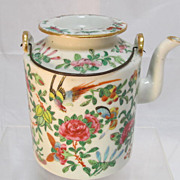 SALE Old Chinese Famille Rose Porcelain Teapot
