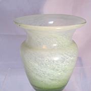 SALE Antique Vaseline Glass Vase