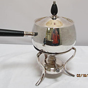 Silver Plate Fondue Pot on Stand F B Rogers Silver Co.