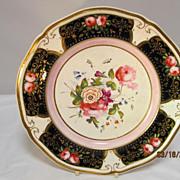 SALE English Porcelain Cabinet Plate Hand Painted Floral Designs