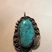 Vintage Native American Turquoise Pendant