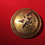 Eastern Star Pin Gold Overlay