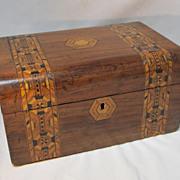 SALE Old English Tunbridge-Ware Box