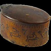 SOLD Rare Tribal Horn Snuff Box