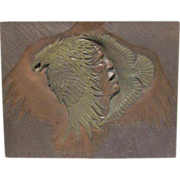 Bronze Plaque Native American