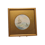 SALE W E J Dean Maritime Watercolor