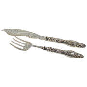 REDUCED Antique English  Sterling Servers