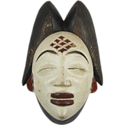 SALE African Carved Wood Mask Punu