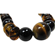 SALE Chinese Tiger  Eye Necklace