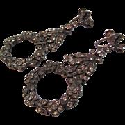 C Z Stone Dangle Earrings