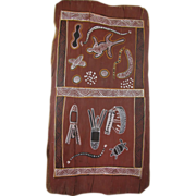SALE Australian Mid-Century Aboriginal Bark Painting