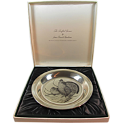 SALE Audubon Sterling Plate by Lansdowne