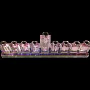 Chinese Crystal Menorah/Mah Jong