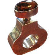 Sterling Perfume Flask in Ring Form