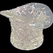 SALE Vintage Pressed Glass Tooth Pick Holder