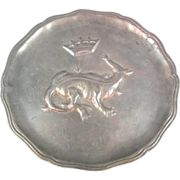 SALE Pewter Plate French