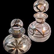 Pair of Painted Perfume Bottles