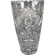 Tall Cut Crystal Vase