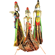 Trio of Indonesian Rod Puppets