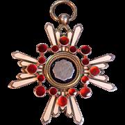SALE Oriental Silver/Enamel Medal