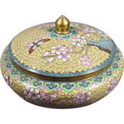 Chinese Cloisonne Covered Jar/Box