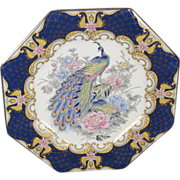 Porcelain Peacock Serving Plate