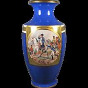 REDUCED Tall Napoleon Porcelain German Vase