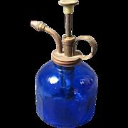 SOLD Antique Cobalt Glass Atomizer/Sprayer