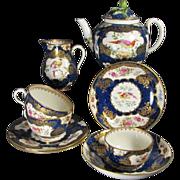Antique 18th Century Style Blue Scale Part Tea Service.