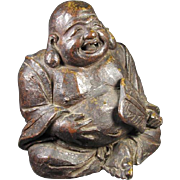 SALE Antique Japanese  Bronze Meiji Hotei