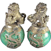 Pair Chinese Fo Lion Stress Balls