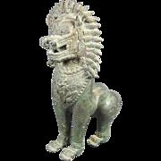 Antique Asian Male Guardian Lion / Foo Dog