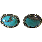 Sterling/Turquoise Native American Earrings