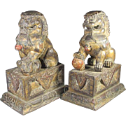 Two Old  Foo Lions from China