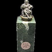 Miniature Bronze Scholar Sculpture
