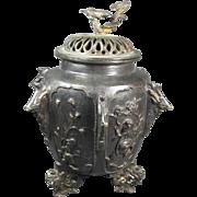 Old Bronze Covered Jar/Vase